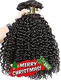 yavida capelli capelli umani brasiliani ricci Weave 3Bundles Kinky Curly capelli veri non trasformati capelli ricci estensioni Capelli Umani