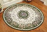 Global- Europäische-Stil Pastoral Runde Teppiche, Pflanze Blumen Kissen Teppich Blended Material Büro Studie Couchtisch Wohnzimmer Teppich ( größe : Diameter 160cm )