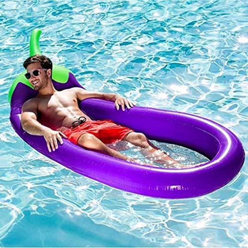 Sixcup® Aufblasbare Auberginen Pool Float, Freibad Raft Riesen Lila Pool Lounge Sommer Party Beach Holiday Spielzeug für Erwachsene und Kinder (Purple)