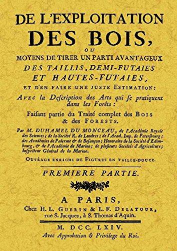 De l'explotiation des Bois por M. Duhamel du Monceau