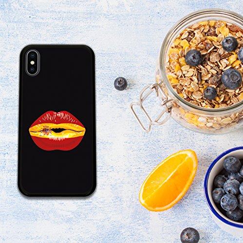 iPhone X Hülle, WoowCase Handyhülle Silikon für [ iPhone X ] Haifisch Maskottchen Handytasche Handy Cover Case Schutzhülle Flexible TPU - Schwarz Housse Gel iPhone X Schwarze D0473
