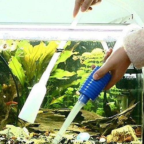 VOOYE Aquarium Siphon Aspirador Bomba de Agua Fish Tank Escurreplatos Limpiador de...