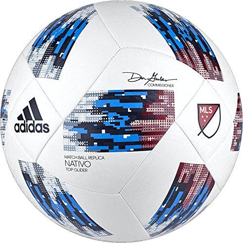 adidas Performance MLS Top Glider Fußball, CF0005, weiß/Blau, Größe 5