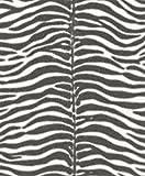 Papier peint intissé aspect élégant de zèbre rapidement papier peint 2couleurs assorties (865813)