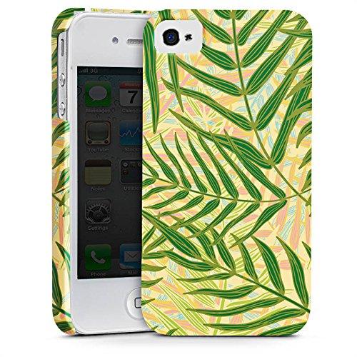 Apple iPhone X Silikon Hülle Case Schutzhülle Tropische dschungel Blätter Premium Case glänzend