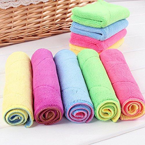 Mikrofaser Reinigungstücher 18x30 cm Spültücher Handtücher Waschlappen Dishcloths (3 Stück) (Waschlappen Natürliche Faser)