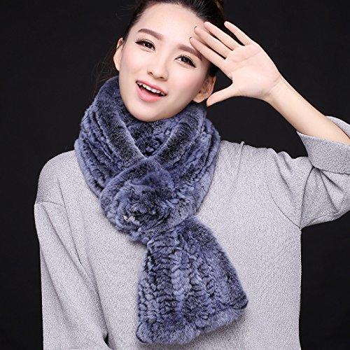feieb Bavaglia sciarpa Il processo di Inverno e la pelliccia lana fazzoletto da collo coreana (Dragonfly Crema)