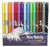 Miss Melody 8482 - Fasermaler 15 verschiedene Farben