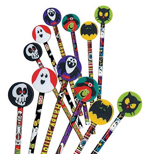 Crayons de Papier Amusement Halloween avec Gomme (Grande) x 12 0603813043600