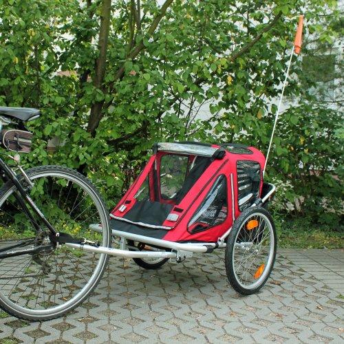 Kinderanhänger Fahrradanhänger Red Loon RB10001 ALU-Light für 2 Kinder - 2