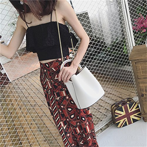 Maod Damen Stylish PU Leder Einfarbig Handtasche