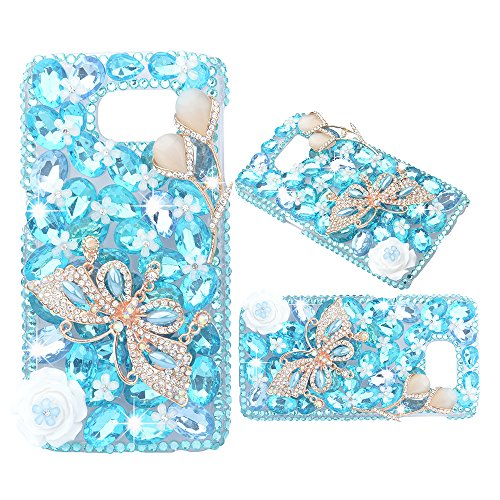 evtech-tm-de-cas-diamante-papillon-blue-crystal-floral-strass-bling-dur-snap-on-pour-samsung-galaxy-