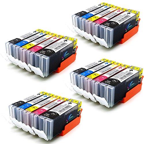 Preisvergleich Produktbild 20 Drucker patronen MIT CHIP kompatibel zu Canon PGI 550 BK , CLI 551 C , CLI 551M , CLI 551 Y und CLI 551 PBK für Canon Pixma IP7250 MG5450 MG 5655 MG6350 MX725 MX925 MG7150 MG 6450 MG 5550