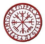 Parche insignia termoadhesivo Vegvisir Vikingo