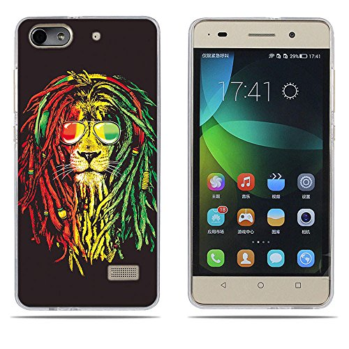 DIKAS Handyhülle für Huawei Honor 4C, Hülle für Huawei G Play Mini, TPU Softcase Silikon Tasche Anti-Scratch Telefon-Kasten Handyhülle Handycover für Huawei Honor 4C / Huawei G Play Mini- Pic: 03