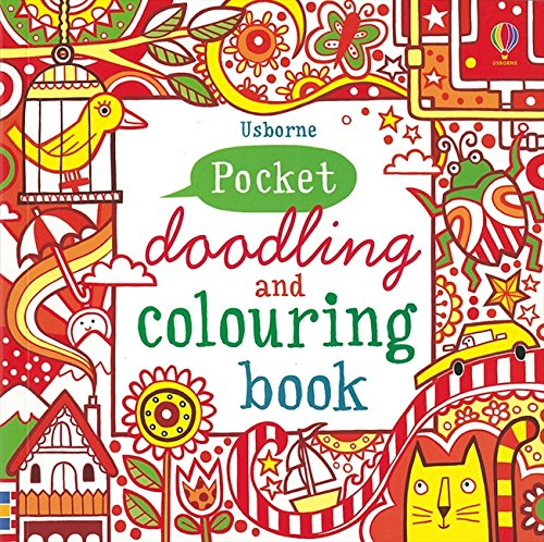 Red Pocket Doodling & Colouring Book (Usborne Drawing, Doodling and Colouring)