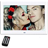 10 Zoll Digitaler Bilderrahmen, NeKan 1024 × 600 Hohe Auflösung / 1080P HD elektronischer bilderrahmen mit Fernbedienung