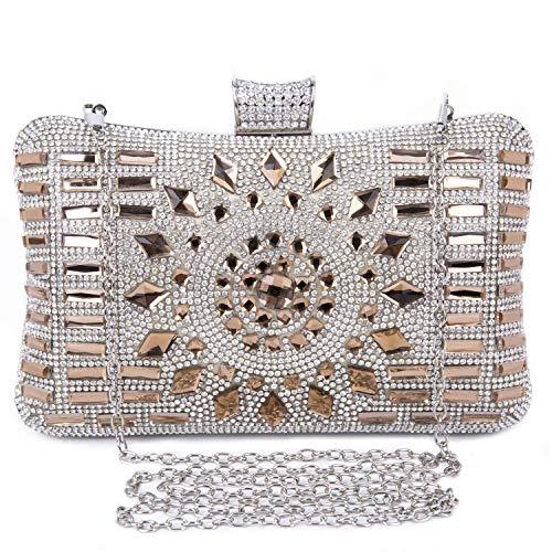 BAIGIO Bolso Fiesta Mujer Diamante