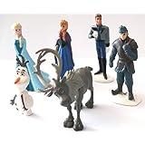 Brigamo 6 x Disney - Die Eiskönigin Figuren, Tortenfigur für die Torte zum Kindergeburtstag, Tortendeko, Deko Figuren inkl. ELSA, Anna