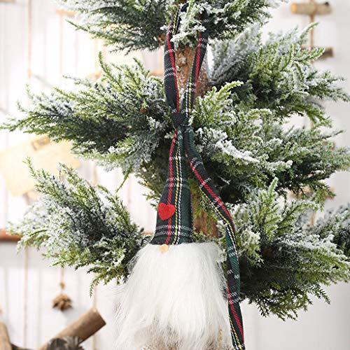 Deko Weihnachten, QHJ Weihnachts Hut Hängen Bein Kein Gesicht Puppe Raum Dekor Weihnachtsbaum DIY Deko, Weihnachten Dekoration Anhänger (F) -