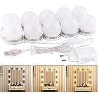 Lumière de Miroir, K KUMEED 10 Ampoules Hollywood Kit de Lumière LED Dimmable Lampe pour Miroir Cosmétique Salle de Bain…