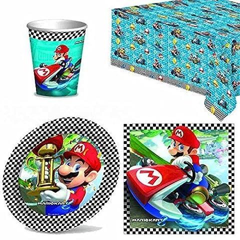 Mario Kart couverts de fête lot pour 8