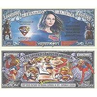 Novelty Dollar Super Girl Lovers Commemorative Million Dollar Bills x 2 Krypton Hero Superman