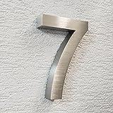3D Hausnummer Edelstahl - wetterfest & pflegeleicht - Außenbereich geeignet - mit Montagematerial - grob geschliffen (7)