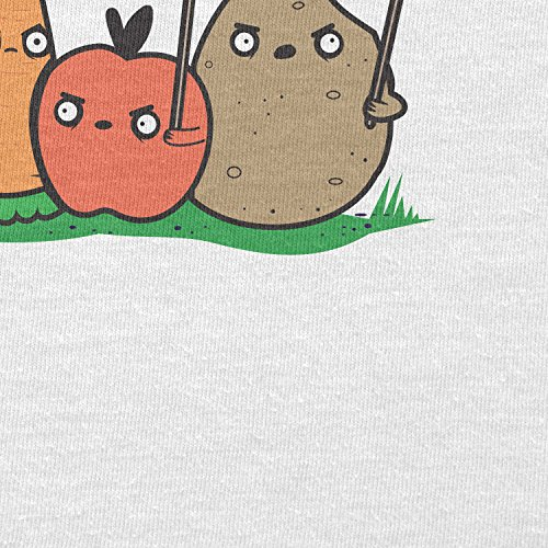 TEXLAB - Angry Plants - Herren T-Shirt Weiß