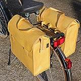 Fast Rider Hecktasche 2-fach Radtasche Einkaufstasche Polyrattan Pinie