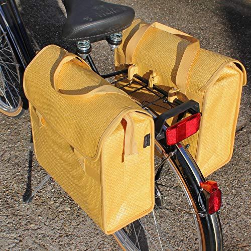 fast rider fahrradtaschen Fast Rider Hecktasche 2-fach Radtasche Einkaufstasche Polyrattan Pinie