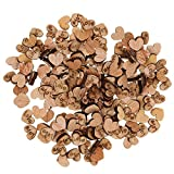 #6: Baoblae Pack of 200 Rustic Love Heart Wooden Pieces for Wedding Table Decoration Craft Art