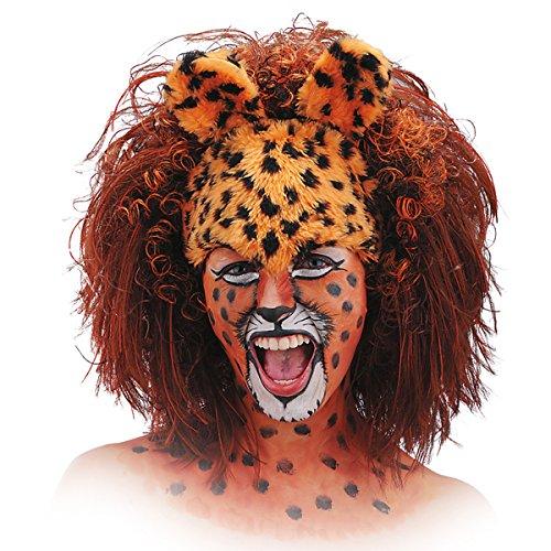 Carnival Toys 2788 - Perücke Leopard, schwarz/gelb