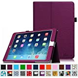 iPad Air 2 Case [Corner Protection] - Fintie Slim Fit Premium Vegan Leather Folio Case with Smart Cover Auto Sleep / Wake Feature for Apple iPad Air 2 (iPad 6) 2014 Model, Purple