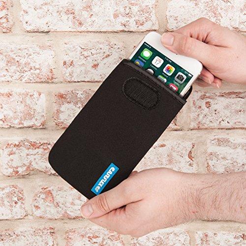Caseflex Apple iPhone 4 / 4S Tasche, Neoprene Beutel Hülle / Apple iPhone 4 / 4S Pouch / Skin / Cover - Schwarz Schwarz