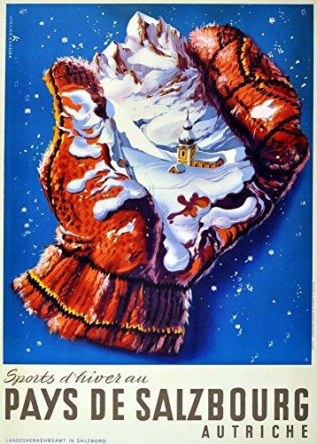 vintage-viaggio-austria-per-salzbourg-e-sport-invernali-da-250-gsm-lucido-arte-c1950-della-riproduzi