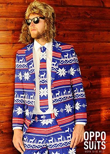 Mens Weihnachten Jumper Rudolph Pattern Anzug Kostüm Large (EU54 UK44) (Anzug Rudolph The)