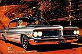 Pontiac Bonneville Convertible 1962 Auto reklame barschild, us, weiss, cabriolet