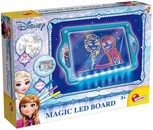 Lisciani-LA Reine des NEIGES Loisirs CREATIFS – Ardoise Magique Fluo A LEDs NEIGES-63178, 63178, Multicolore