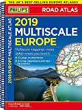Philip's 2019 Multiscale Road Atlas Europe: (A4 Spiral binding) (Philips Road Atlas)