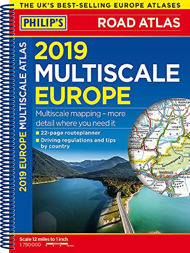 Philip's 2019 Multiscale Road Atlas Europe: (A4 Spiral binding) (Philips Road Atlas) por Philip's Maps
