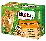 Kitekat Katzenfutter Landpicknick in Sauce, 12 Stück (12 x 100 g)