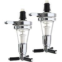Homyl 2 Pièces Pompe à Bière Système de Refroidissement de Boisson Distributeur Transportable en Alliage d'Aluminium 45ml