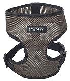 Hundegeschirr Brustgeschirr AmiPlay Scout AIR 6 Größen und 5 Farben (L 45-60cm, Khaki)
