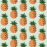 Fabulous Fabrics Cretonne Ananas Anak - Schilf/orange -