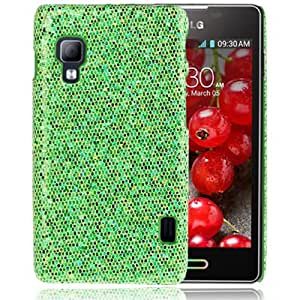 Fashion Shimmering Powder Pasted Skin Plastic Case for LG Optimus L5 II / E455 (Green)