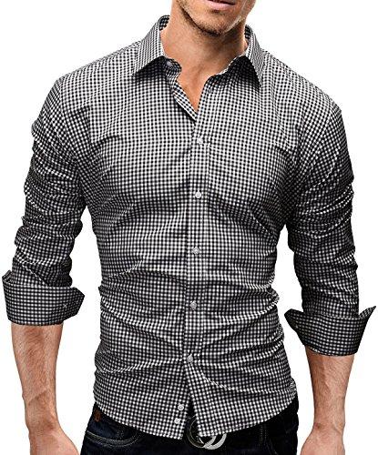Merish Hemd Slim Fit 5 Farben Größen S-XXL Herren Modell 41