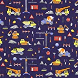 Fabulous Fabrics Dekostoff Baustelle — Meterware ab 0,5m
