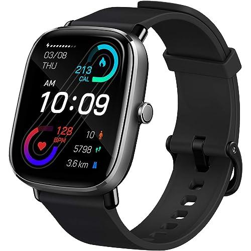 """Amazfit GTS 2 Mini Smartwatch Orologio Intelligente AMOLED da 1,55"""", 70 Modalità di Allenamento con GPS, 5 ATM Impermeabile, Monitor del Sonno, Durata della Batteria di 14 giorni, Uomo, Donna (Nero)"""