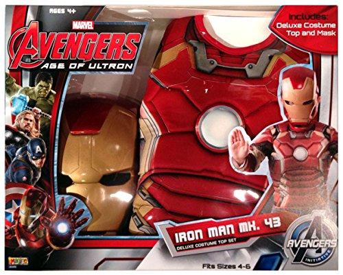 Imagen de avengers  iron man age of ultron, pecho musculoso y máscara de disfraz para niños rubie's 31479  alternativa